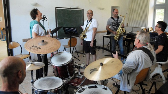 Atelier jazz musiciens batterie 2019 Luberon Provence