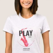T-shirt Play now Jazz'Lub Workshop femme
