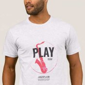 T-shirt Play now Jazz'Lub Workshop homme